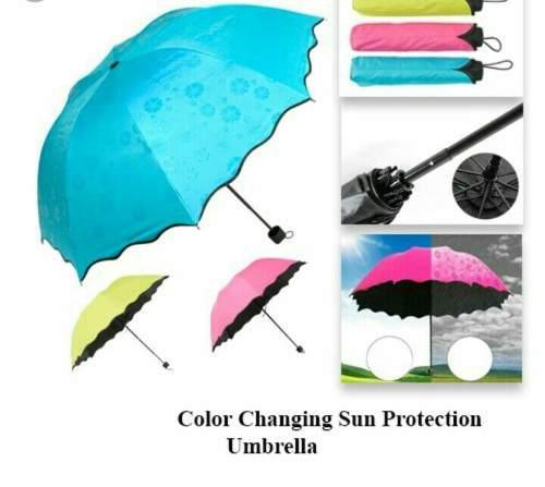 Paraguas magico filtro uv cambia de color - brujitas store