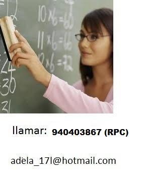 Profesora particular de matematicas