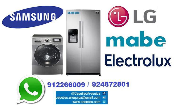 Reparacion lavadoras y refrigeradoras lg, samsung,etc