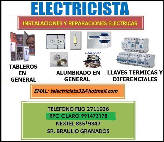 Tecnicos electricistas a domicilio ¡remodelaciones¡