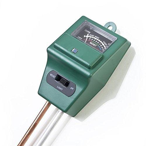 Test suelo 3 en 1 sensor luz medidor ph humedad terreno agro