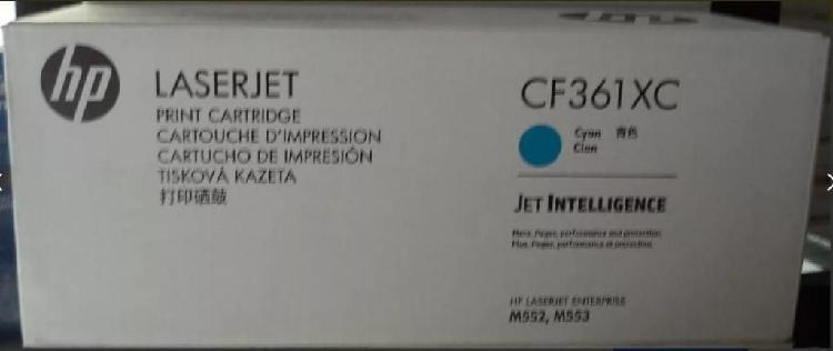 Toner hp original para impresora mfp m553 color cyan cyan