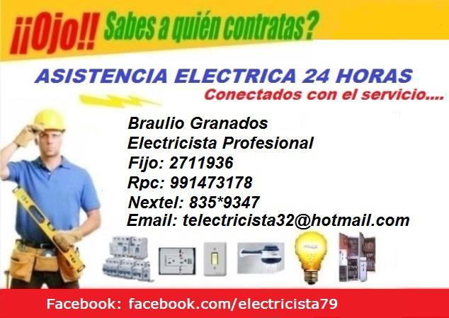 Electricidad, electricistas,detectores domicilio