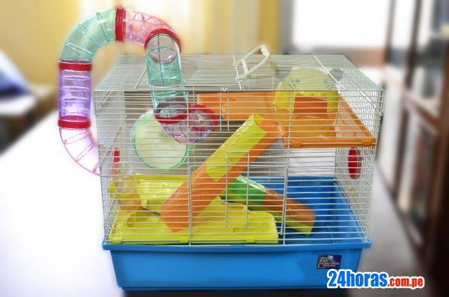Jaula hamster 3 pisos importada remato