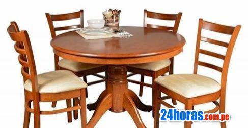 vendo comedor mesa redonda 4 sillas nuevo, a S/.800.00