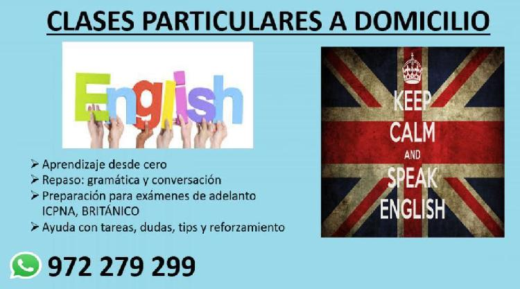 Clases particulares de inglés a domicili