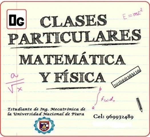 Clases de matemáticas y fisica