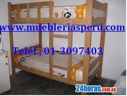 Camarote de madera,cama, tarima,colchon