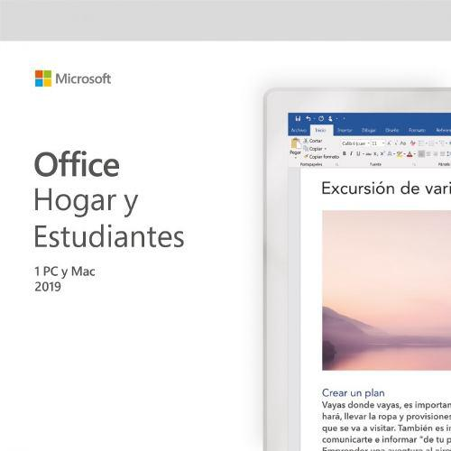 Microsoft office hogar y estudiante para pc/mac 2019 - 1pc