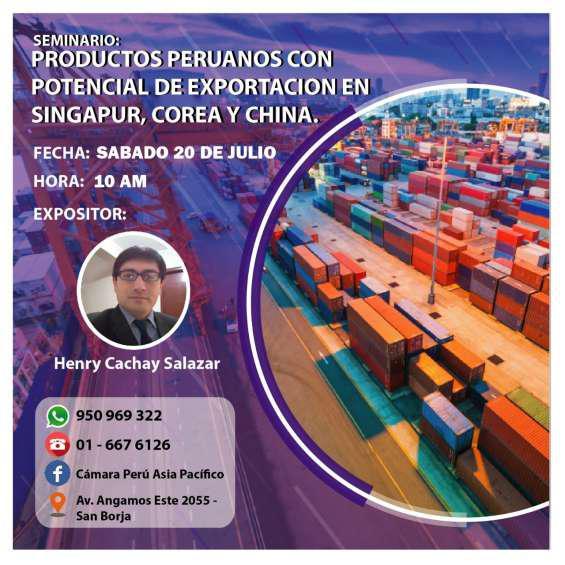 Productos peruanos con potencial exportador a china, corea y