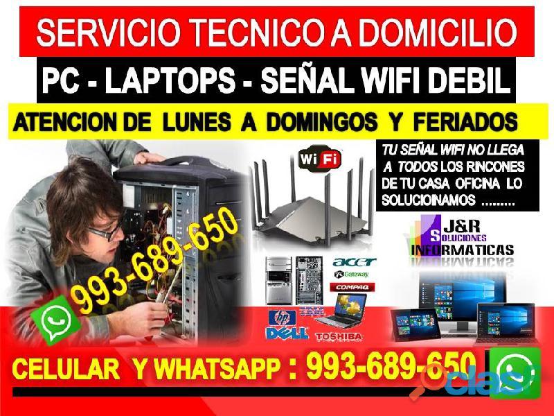 Tecnico de internet pcs laptops formateos cableados a domicilios