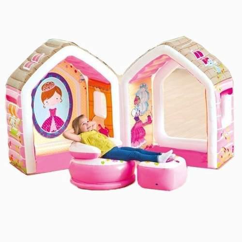 Casita para niña con sillon y puffs intex regalo - navidad