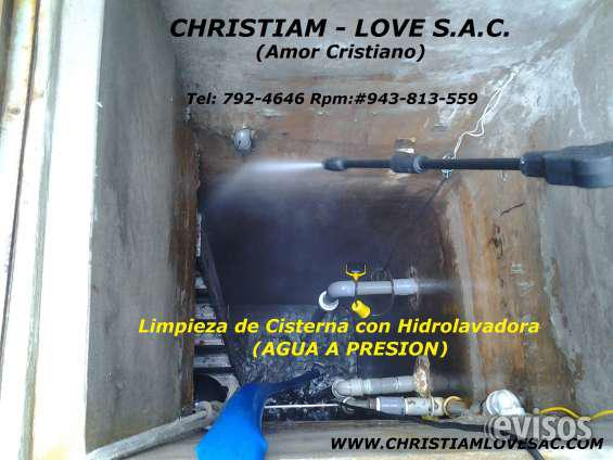 Limpieza de tanques, cisternas con hidrolavadora 792-4646 en