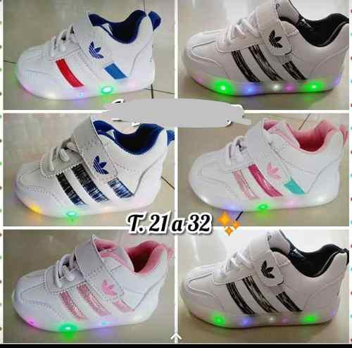 zapatillas luz niño adidas