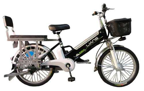 Bicicleta eléctrica lians con asiento - parrilla