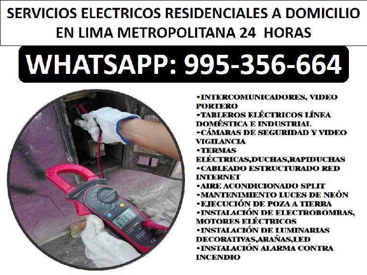 995-356-664//electricistas a domicilio 24 horas en
