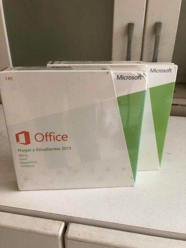 Microsoft office hogar y estudiantes 2013 original y sellado