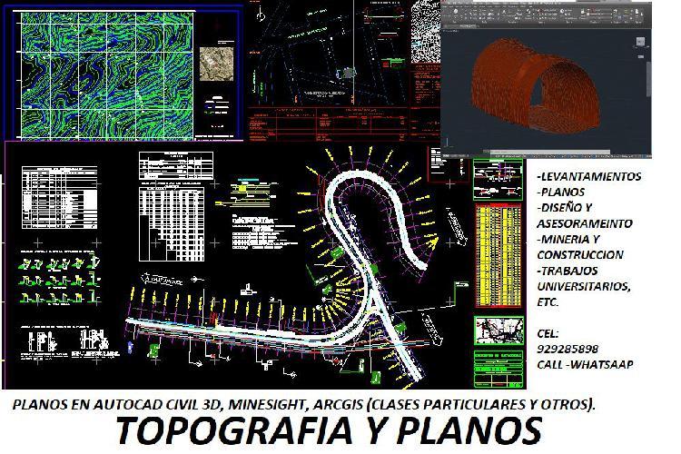 Topografia y planos en general (asesoria - alquiler de