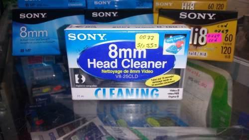 Sony Japón hi8//digital8//8mm Cabezal de Video Cassette de limpieza v8-25cld