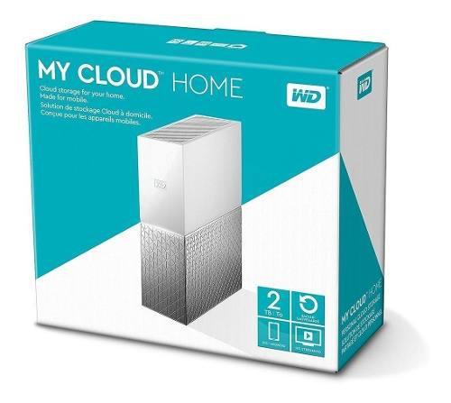 Wd almacenamiento my cloud home 2tb usb 3.0 y red