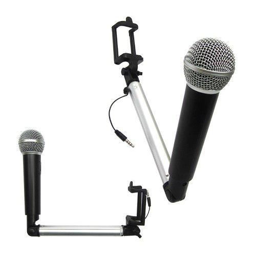 Micrófono selfie stick para cantar, fotografíar y video