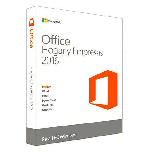 Microsoft office hogar y empresas 2016 español (t5d-02324f)