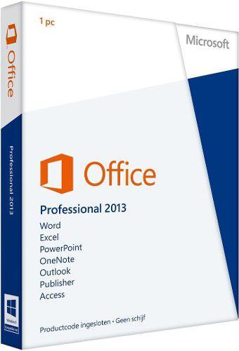 Microsoft office profesional 2013 32/64bit caja sellada 1pc