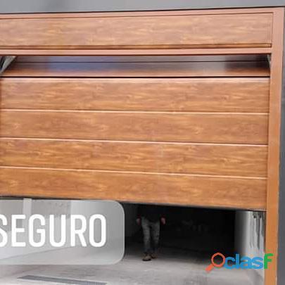Puerta seccionales madera surco