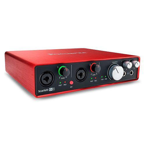 Interface de audio focusrite scarlett 6i6
