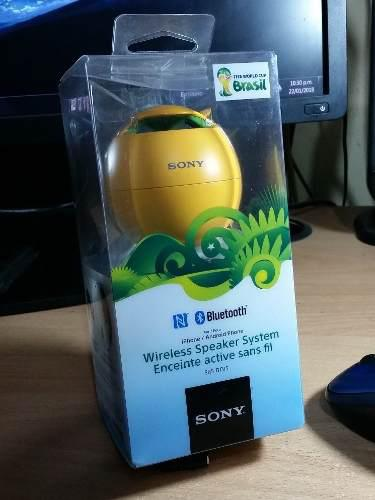 Parlante sony nfc srs-btv5 - colección mundial brasil 2014