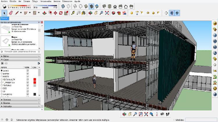 Clases a domicilio de modelado 3d sketchupvray