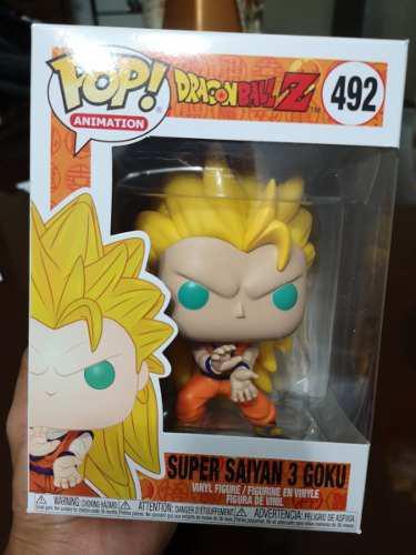Funko pop! super saiyan 3 goku nro 492 original