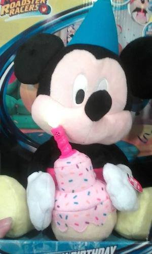 Mickey mouse peluche feliz cumpleaños original