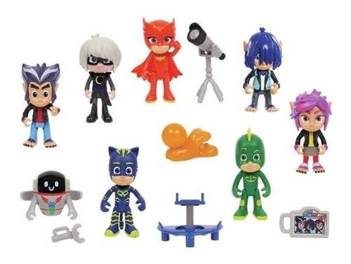 Pj masks heroes en pijamas set exclusivo de 14 personajes