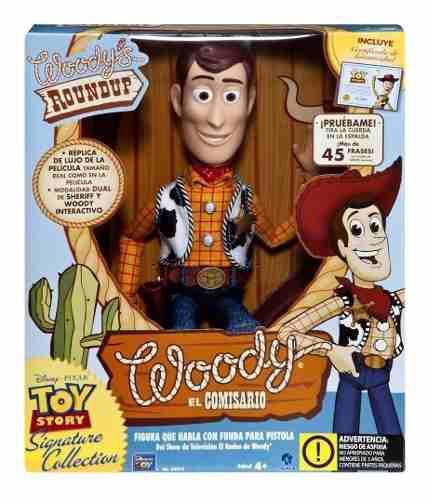 Toy story muñeco woody - vaquero interactivo original