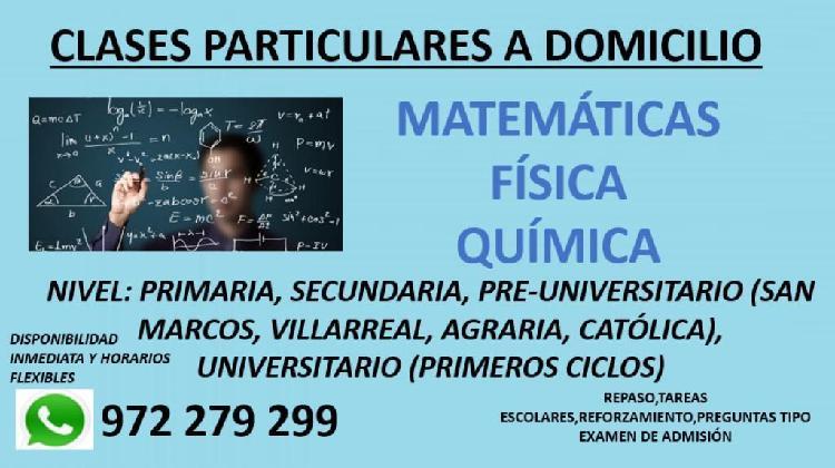 Clases particulares matemáticas, fisica