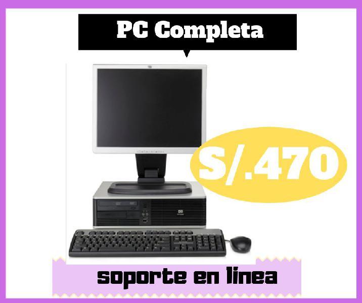 computadora completa, cpu, monitor, teclado y mouse