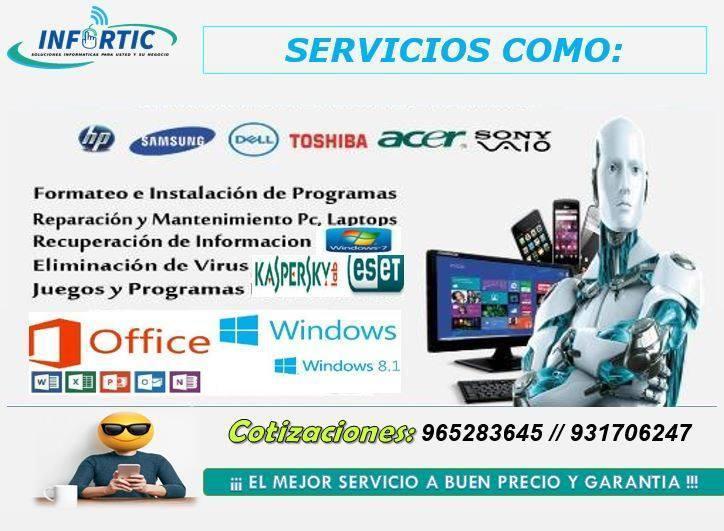Servicios informáticos y productos tecnológicos