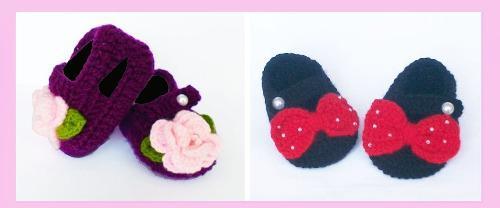 Ultimo En Stock Zapatitos Bebe Crochet Talla 3 A 6 Meses