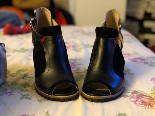 Zapatos lalalove negros t 38 seminuevo calzado femenino