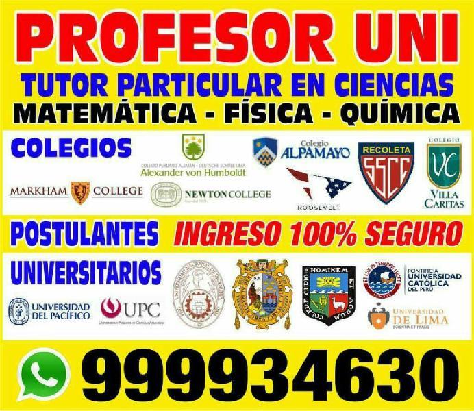 Profesor uni a1 excelencia academica dicta cursos de
