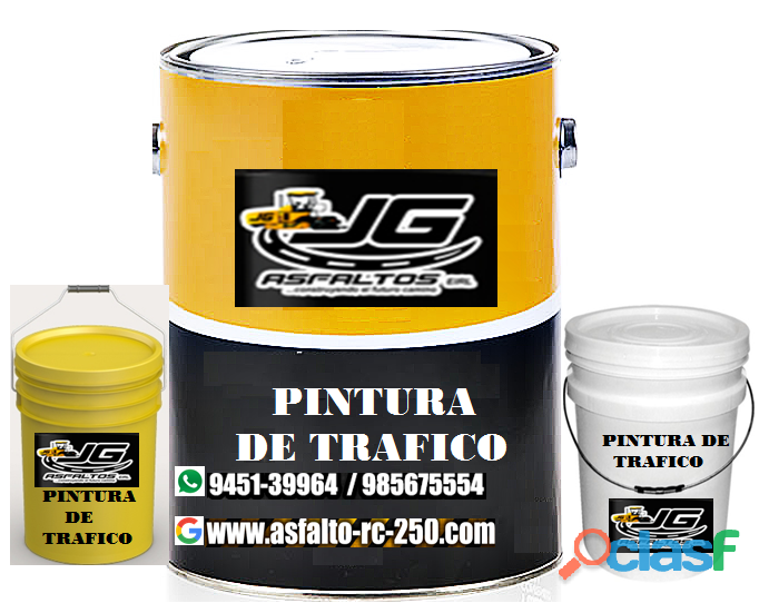 Pintura de trafico en cilindro y por baldes venta en lima envíos a provincia