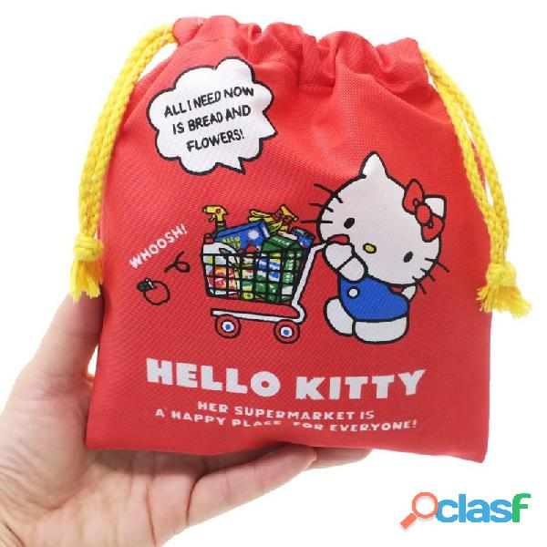 Bolsita de tela de aseo de hello kitty shop   original sanrio