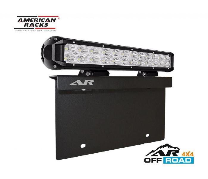 Base porta placa con barra led de iluminación
