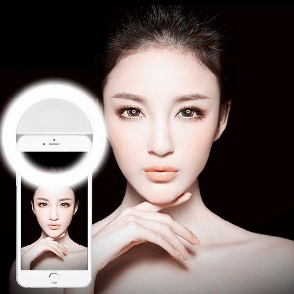 Mejores fotos con anillo led iluminación flash selfie de