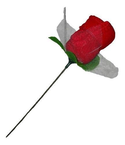Adorno rosa tela 20cm navidad regalo amor mujer madre flores