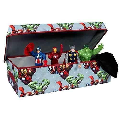 Avengers colapso niños almacenamiento de juguete delgado co