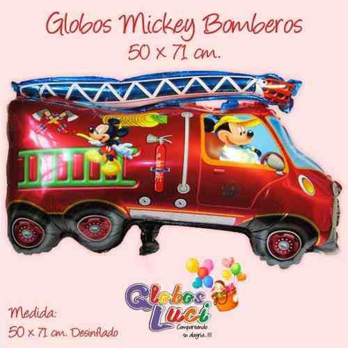 GLOBOS METALICOS BOMBEROS MICKEY segunda mano  Peru (Todas las ciudades)
