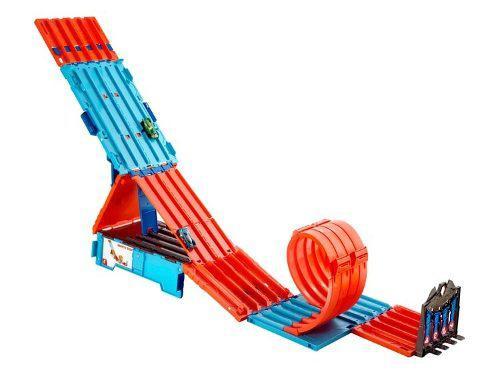 Pista de carreras hot wheels track builder mega caja