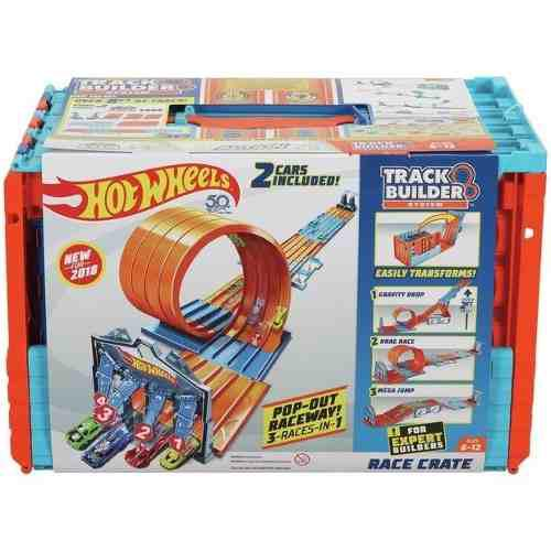 Pistas de carreras 3 en 1 mega caja hot wheels - multicolor